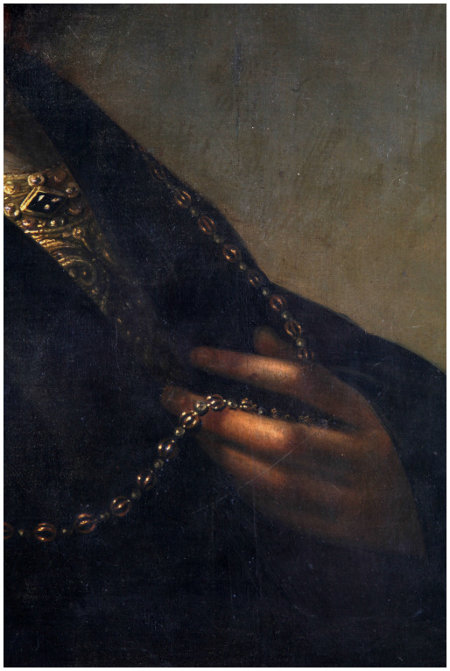 Click the image for a view of: Detail of the hand and chain